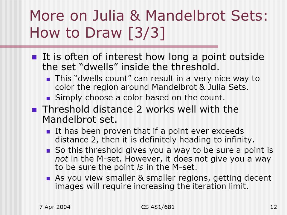 More on Julia & Mandelbrot Sets: How to Draw [3/3]